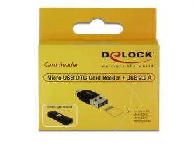 DeLock Micro USB OTG Card Reader + USB 2.0 A male