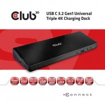 Club3D USB-C 3.2 Gen1 Universal Triple 4K Charging Dock